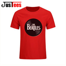 Fantansy American Famous Rock Band the beatles Men T shirt Redondo The Beatles Vinyl T shirts Vestido de festa Hip Hop Tee shirt