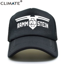 CLIMATE Heavy Metal Rammstein Rock Band Summer Cool Mesh Caps Rock Rammstein Cool Fans Summer Baseball Mesh Net Trucker Cap Hat(China)