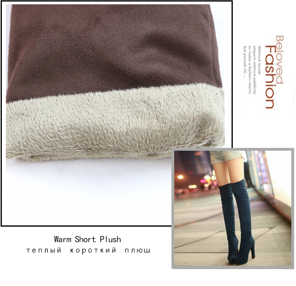 New Women's Boots, Sexy Fashion Over the Knee Boots, Sexy Thin Square Heel, Boot Platform Woman Shoes 24