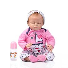 Presale New 53CM solid silicone doll reborn high simulation gentl touch real baby doll toys lifelike bonecas reborn