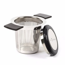 Premium Tea Infuser Brew-In-Mug Stainless Steel with Long Handles for Steeping Loose Leaf Tea, Lid Included