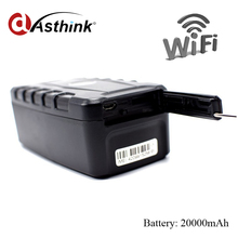 Strong Magnet Wifi GPS Tracker Car Vehicle Container 20000mAh Battery 240days Standby Remote Monitoring Free Installation LK209C(China)