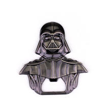 2016 Hot Movie star wars Darth Vader Bar Beer Bottle Opener Metal Alloy style 6*6 cm model figure Kitchen Tools for souvenirs(China)
