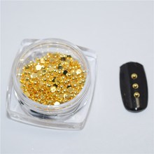 500psc Mixed Alloy Glitter 3D square Nail Art Jewelry Decorations Charms Manicure Charms 3D Nail Art Decorations YZJ089(China)