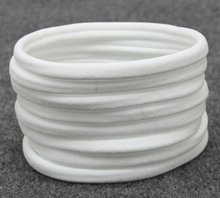 ON SALE 10PCS White Nylon headband milk bulk One Size Fits most Baby Headband Toddler Infant Newborn Skinny Stretchy Hair Band(China)