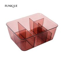 FUNIQUE Makeup Organizer Transparent Cosmetics Storage Box Dresser Small Box Bathroom Desktop Skin Care Products Finishing Box(China)