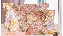 114073004 100% mulberry silk double side  printed Silk Pillowcase size 74cm*48cm+3cm good quality  pillow cover