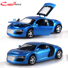 High quality 1:32 Alloy Car Models boy's Toys Four Colors Metal Classic Alloy toy car 14x7x4cm Back to power and vocal function