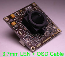 "3.7mm LEN 700TVL EFFIO-A 1/3"" Sony Super HAD CCD ICX810,811 sensor CXD4151 CCTV camera module board with OSD cable(China)"