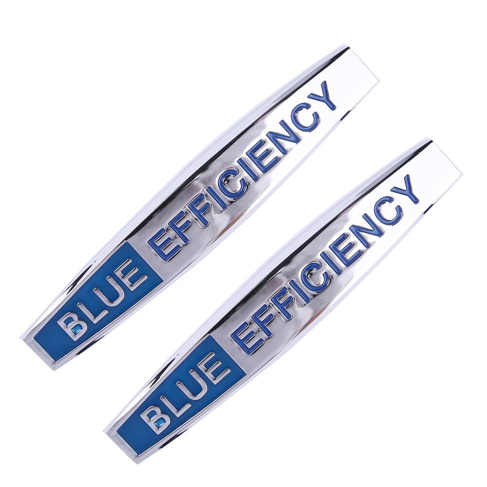 2X BLUE EFFICIENCY LETTER STICKER TRUNK SIDE FENDER BADGE EMBLEM MERCEDES BENZ