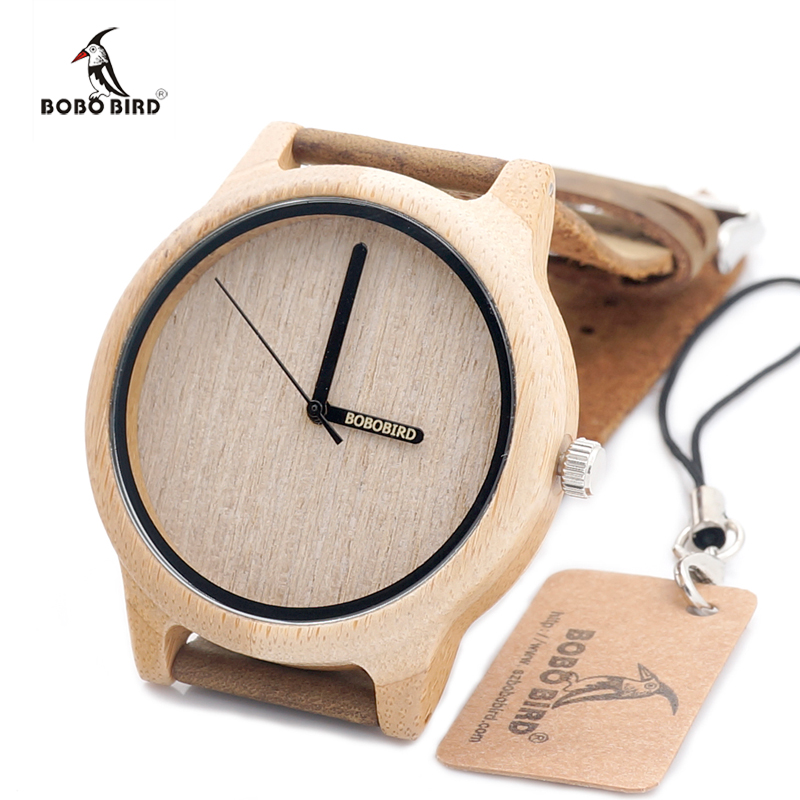 BOBO BIRD 2017 Luxury Wood Watch Genuine Cowhide Leather Band Bamboo Watches for Men and Women relogio masculino C-A22<br><br>Aliexpress
