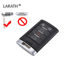 LARATH 10pcs/lot New 5 Buttons Remote Key Fob Case Shell+Key Blank for 2005-2011 Cadillac DTS CTS STS XTS