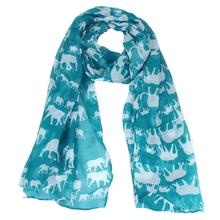 Ladies Scarf Long Elephant Print Voile Shawls Headband Pashmina Hijabs Muslim Stoles Scarves #OR