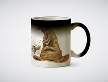 Sorting hat hogwarts Ravenclaw mug heat reveal heat sensitive mug magic tea mugen coffee kid transforming magic mugen