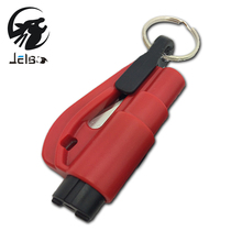 Jelbo Knife Escape Hand Tools Safety Hammer Knife Mini Car Window Breaker Emergency Safety Hammer Key Chain Glass Breaker(China)