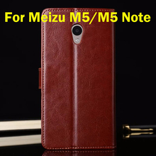 For Meizu M5 M 5 Case 5.2 inch Flip Wallet Genuine Leather Cover For Meizu M5 Note Stand Function Three Card Holder Black Brown