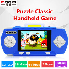 Childhood game Mogis 3.2 inch big screen handheld game console Video Game Retro Tetris portable Game Consola free 328 games(China)