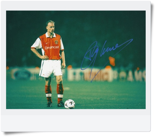 signed Dennis Nicolaas Maria Bergkamp autographed  original photo  7 inches freeshipping  062017   <br>