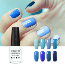 Blue UV Nail Gel BELLE FILLE Sky Blue fingernail Polish Gel Soak off Gel Polish varnish smalto semi permanente unghie nagellack