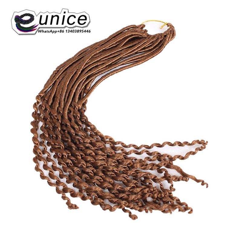 Goddess Faux Locs Crochet Hair Curly Ends Dreadlocks hair extensions  (21)