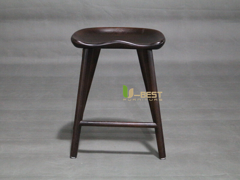dark walnut low tractor barstool u-best stool (1)