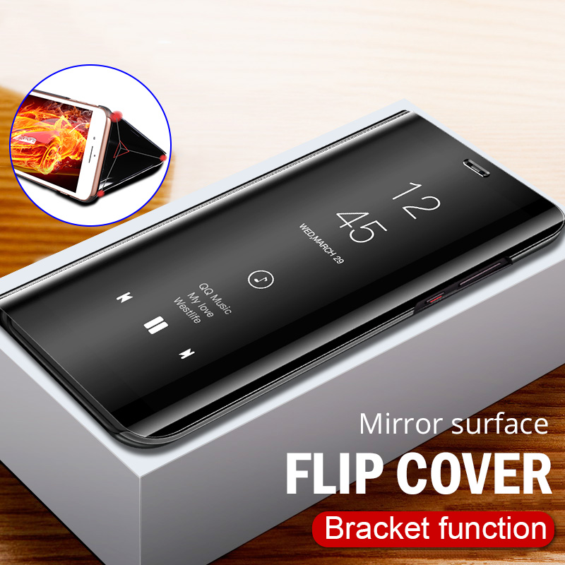 ZNP Full Cover Smart Mirror View Flip Phone Case For Samsung Galaxy S8 S9 S10 Plus S10E Cases For Samsung Note 8 9 S7 Edge Case(China)
