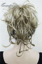 Curly hair piece ponytail hair pieces synthetic hair ponytail-hairpieces extension for women 15colors