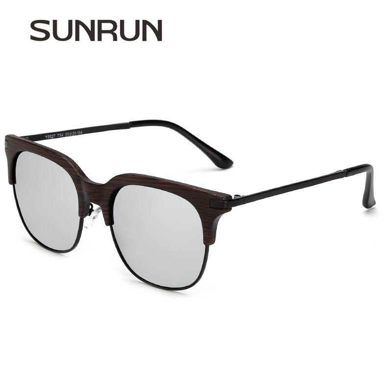 SUNRUN Women Polarized Sunglasses Vintage Sun Glasses Men Coating Mirrored Brand Design Y9927<br><br>Aliexpress