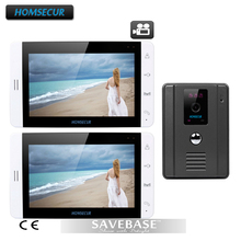 "HOMSECUR 7"" Video Door Phone System Recording Monitor Touch Button 700TVL IR Camera 1V2"