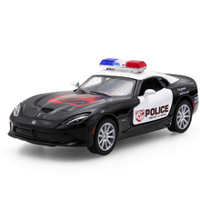 Hot sell 1:36 Viper Diecast Alloy Metal Luxury Racing Car Model Collection Model Pull Back Police Toys Car Gift For Boy