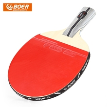 Table Tennis 1 Star Ping Pong Racket Paddle High Speed Faster Return 7-ply Pure Cottonwood Blade Ping Pong Racket Pure Wood