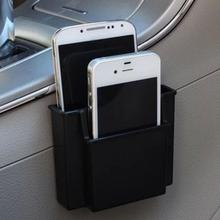 New Multifunctional Car Cell Phone Holder Black Mobile Phone Charge Box Holder Pocket Organizer Car Seat Bag Storage
