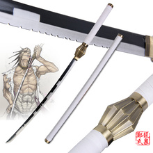 Free Shipping 43 Inchi Replica Japanese Anime Bleach Kenpachi Zaraki Sword Real Steel Katana Cosplay Props Decorative