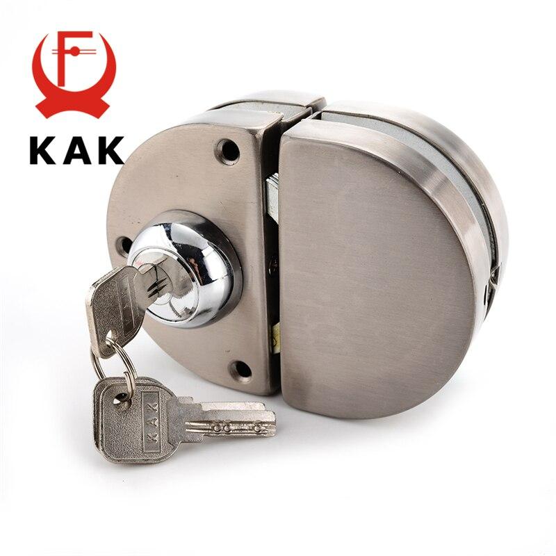 KAK Double Glass Door Lock 304 Stainless Steel Double Open Frameless Door Hasps For 10-12mm Thickness Furniture Hardware<br>