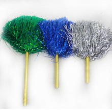 Cheerleading Pom Poms Cheerleader Pompons Dance Sport Competition Flower Ball Cheering Fancy,30g,15-45cm,1pair(2pcs/lot),6colors