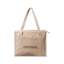 Large Capacity Stylish Design Shopping Tote Bag With Zipper Closure Available for Custom