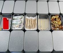 Free Shipping+Wholesale rectangle silver tin box,plain metal storage case bin tea gift box,320pcs/lot