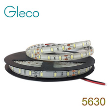 DC12V LED strip 5630 flexible light 60LEDs/m 5m IP65 Waterproof SMD 5630 LED Strip Light(China)