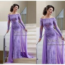 New Arrival Custom made Long sleeve Evening dress Lace Evening gowns Saudi Arabia Dubai Formal dress abiti da cerimonia da sera