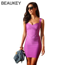 Rayon Spaghetti Strap 2016 Sweetheart Neckline High Quality Sexy Women Bodycon Bandage Dresses Wholesale Cheap XL(China)