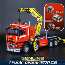 LEPIN 20013 Technology series Electric truck crane 1877PCS Puzzle Brick Toys Compatible with  8258