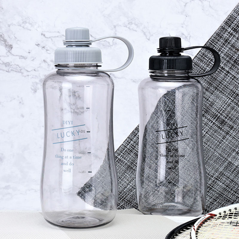 2L Portable Sports Water Bottles Plastic Bottle Leakproof Travel Cup Space Cup