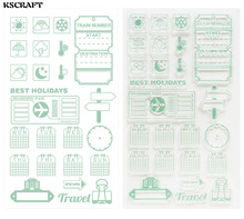 KSCRAFT Best Holidays Transparent Clear Silicone Stamp/Seal for DIY scrapbooking/photo album Decorative clear stamp sheets