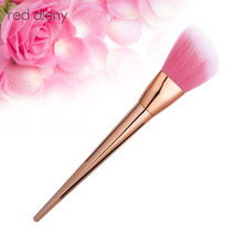 1 pcs Rose Gold Powder Blush Contour Brushes Foundation Highlighter Concealer Brush Tools for Contouring Women face Make up(China)