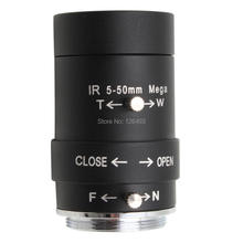 ELP CCTV 5-50mm CS Mount High resolution high quality Manual zoom Varifocal Lens