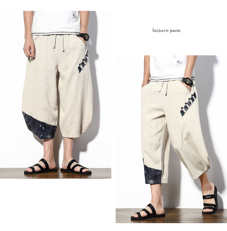 Aolamegs Mens Casual Pants Cotton Linen Loose Large Ankle-length Pants 2017 Summer Chinese Style Male Japan Harajuku Cross-pants (12)