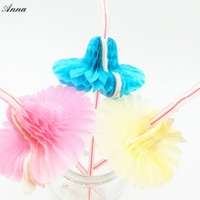 50pcs Hawaii girls Drinking Straws Parasol Cocktail Paper Straws Hawaiian Hula Beach Party Cocktail Straws Colorful Mixed Colors