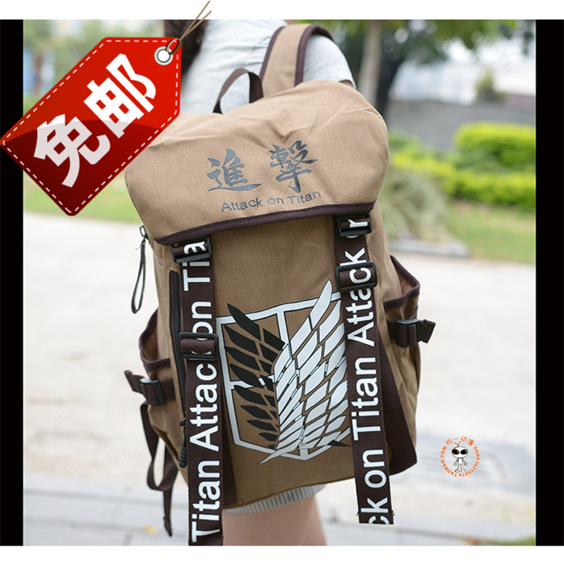 Anime Cosplay Attack on Titan Eren Bag Cartoon Canvas Backpack Shingeki no Kyojin Unisex Schoolbag Shoulders Travel Bags<br><br>Aliexpress