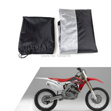 Waterproof Motorcycle Cover For Honda CR80 CR125 CR250 CRF230 CRF250 CRF450 XR/XL125-600 230x95x125cm(China)
