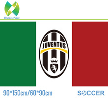 Free Shipping Juventus Football Club Football Team Flag Hot Sell Goods 3X5FT 150X90cm 60x90cm Banner Brass Metal Holes